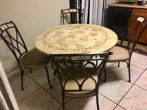 Table set with chairs for Sale in Fort Lauderdale, FL