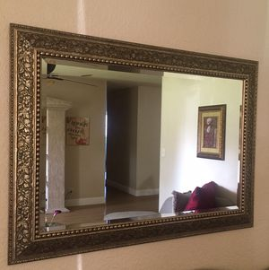 Home Decor Huge Wall Mirror in Brushed Gold Floral Pattern for Sale in Pembroke Pines, FL