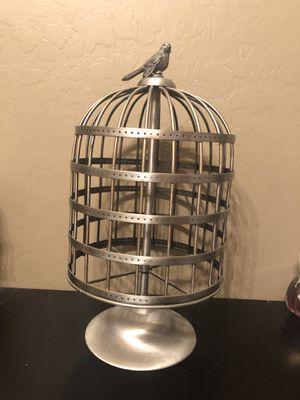 Vintage Bird Cage Jewelry Holder for Sale in El Mirage, AZ