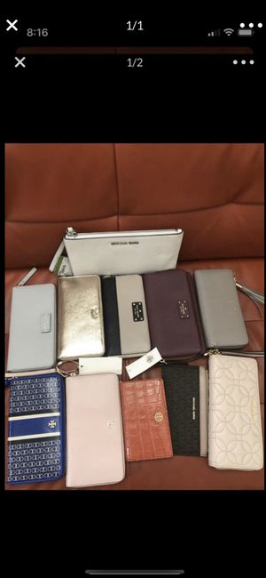 Brand new Michael Kors Kate spade Tory Burch authentic wallets never used with tags make an offer for all for Sale in Bellevue, WA