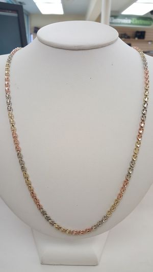 14kt solid tri color gold chain for Sale in San Diego, CA
