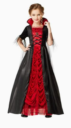 Kids Long Victorian Vampiress Costume (Small 4-6) for Sale in Springfield, VA