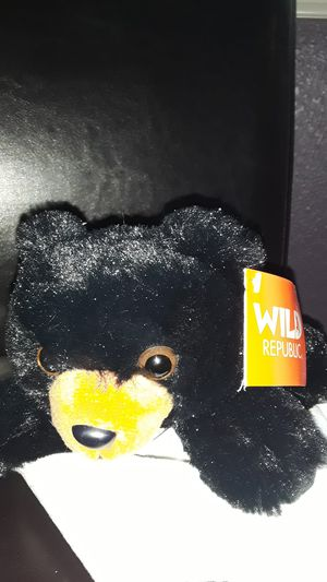 New Small Black Bear Stuffed Animal by Wild Republic with tags for Sale in Henderson, NV