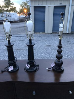 3 lamps with round shades. for Sale in Essex, MD