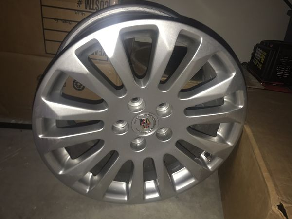 "Set of 4 gently used 18"" Cadillac wheels. Came off my 2013 Cadillac CTS."