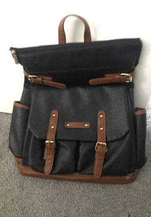 Black/brown stylish backpack for Sale in Woodridge, IL