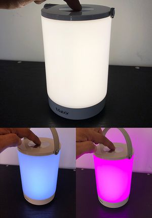 (New in box) $15 Rechargeable Night Light LED Table Lamp w/ Touch Control White & Changing RGB Colors for Sale in Whittier, CA