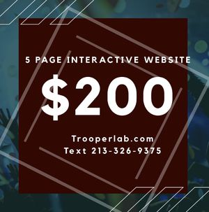 5 page website ( you can add video banner ) for $200. for Sale in San Gabriel, CA