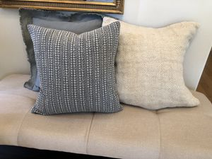 Lovely Brand new designer Potter Barn throw pillows. 18 to 20 with down inserts or 55 for any three ! for Sale in Bothell, WA