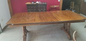 Solid oak dining table for Sale in Tulare, CA