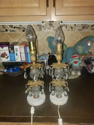 TWO VINTAGE CRYSTAL LAMPS for Sale in Boca Raton, FL