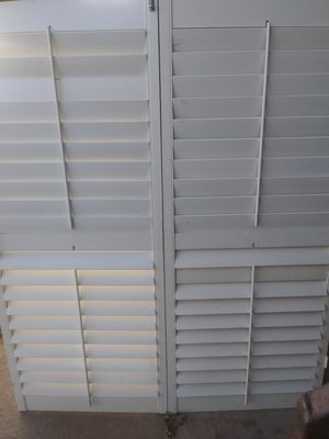 Folding shedder blind doors(5ft wide 6ft tall) for Sale in Oklahoma City, OK