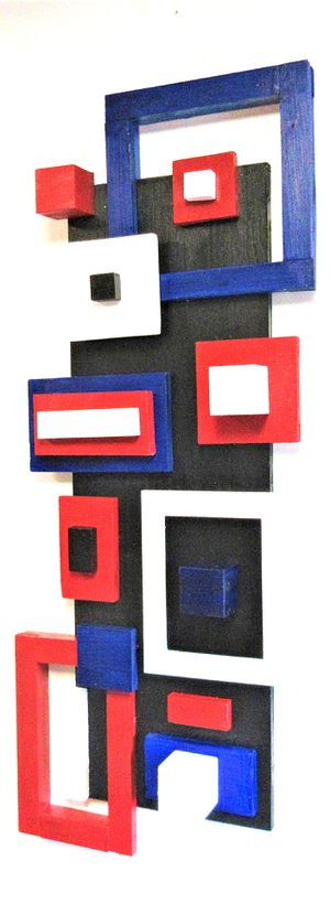 """44""""X18""""x5"""" ORIGINAL SIGNED GEOMETRIC WOODEN WALL HANGING. READY TO HANG! for Sale in Cincinnati, OH"""