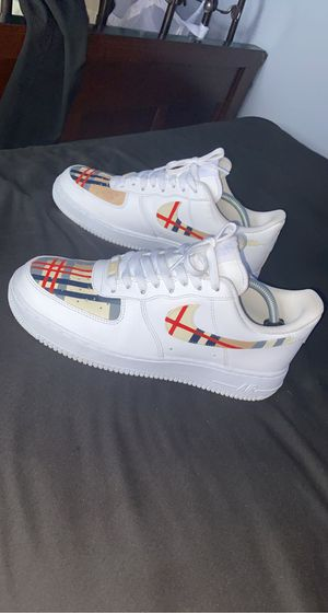 Custom Burberry Air Force 1 sz10.5 for Sale in Pflugerville, TX