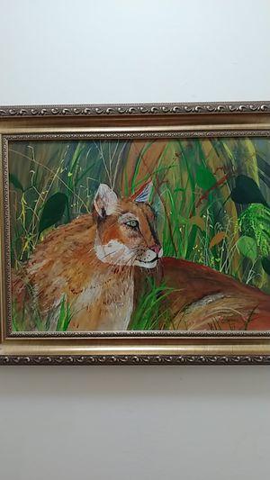 Puma. Original oil on canvas by Nimia. for Sale in Miami, FL