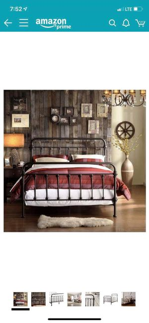Wrought iron queen size bed for Sale in Vincent, AL