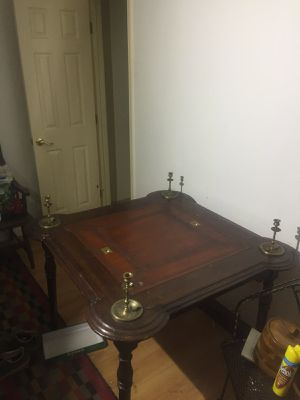 Antique French poker table and chips for Sale in Washington, DC