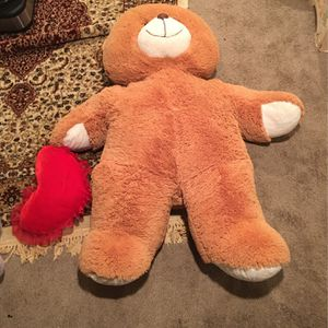 "Giant Brown Teddy Bear with ""I Love You"" Heart for Sale in Marlboro Township, NJ"