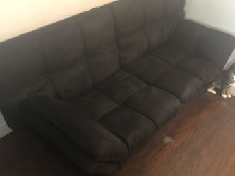 Black Suede Futon for Sale in Weymouth,  MA