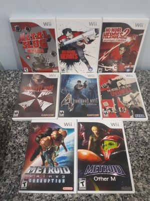 Nintendo Wii Wii U video games Resident Evil No More Heroes Metroid 10 to $20 each for Sale in Brookfield, IL