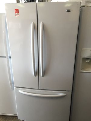 MAYTAG FRENCH DOOR BOTTOM FREEZER WORKS GREAT RECENT MODEL CLEAN WARRANTY DELIVERY for Sale in Alexandria, VA