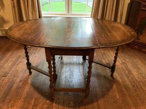 Antique English Oak gateleg table for Sale in Dallas, TX