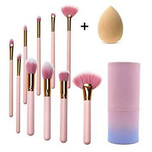 Makeup Brushes Set 10 PCs Flat Foundation Blush Eyeliner Eyeshadow for Sale in Pomona, CA