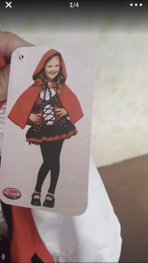 Girls Little Red Riding Hood costume /dressup (NWT) for Sale in Malden, MA