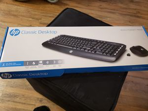 Hp Classic Desktop Wireless Keyboard and Mouse for Sale in Santa Clara, CA