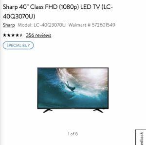 40 inch Sharp Led Tv for Sale in Houston, TX
