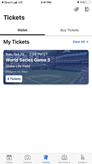 1 World Series Ticket Game 5 for Sale in Romoland, CA