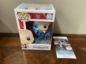 WWE Kurt Angle Funko POP Signed JSA for Sale in Greensboro, NC