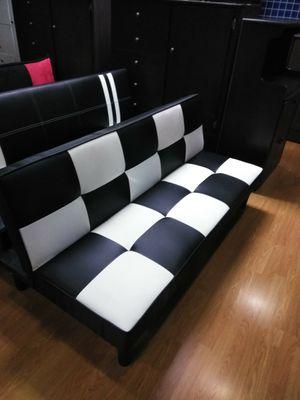 Black and White futon sofa for Sale in Oak Glen, CA