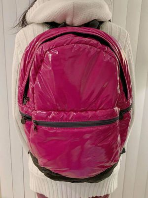 New in box pink girl glossy finished book case backpack with zipper front side pocket for Sale in Whittier, CA