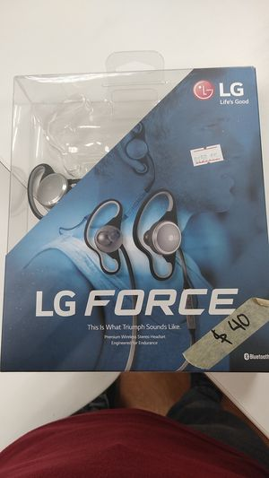 New LG Force Premium wireless headset on Sale $40(originally $59.99) for Sale in Spring, TX