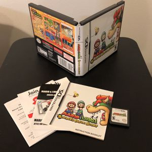Mario & Luigi: Bowser's Inside Story (Nintendo DS) CIB With Inserts for Sale in Anatone, WA