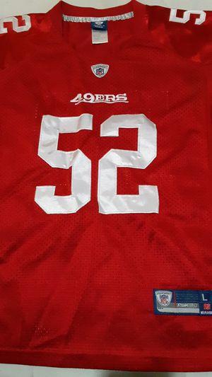 REEBOK RBK SAN FRANSISCO 49ERS PATRICK WILLIS #52 NFL JERSEY for Sale in Fresno, CA