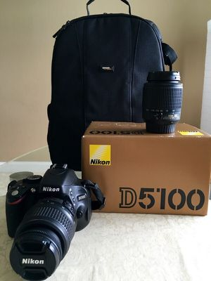 Nikon D5100 DSLR with 2 Lenses (Free Tripod) for Sale in St. Louis, MO