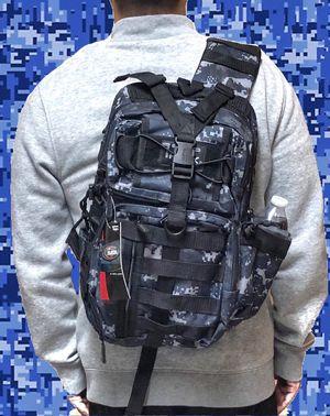 Brand NEW! Blue Digital Tactical Crossbody/Shoulder/Side Bag/Sling Bag For Everyday Use/Traveling/Hiking/Fishing/Biking/Camping/Gifts $23 for Sale in Torrance, CA