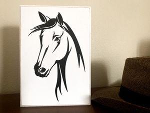 Equestrian Home Decor Rustic Barn Contemporary Black Horse Silhouette Handmade for Sale in Vancouver, WA