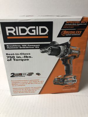 RIDGID R86116 18V BRUSHLESS CORDLESS COMPACT HAMMER DRILL COMBO**BRAND NEW** for Sale in Rocky River, OH