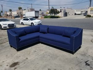 NEW 7X9FT JEAPARY NAVY FABRIC SECTIONAL COUCHES for Sale in Fontana, CA
