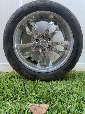 """20"""" chrome Goodyear Eagle tires. Set of 4. for Sale in Orlando, FL"""