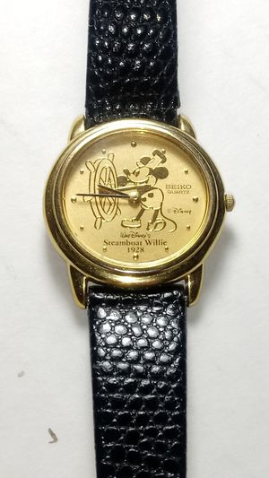 Vintage Disney Seiko Limited Edition Mickey as Steamboat Willie watch for Sale in Tacoma, WA