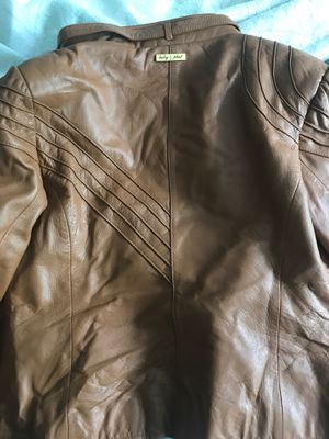 Real leather jacket - Size L for Sale in Rockville, MD