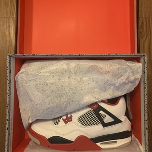 Air Jordan 4 Fire Red Sizes 5, 7, 10.5, 13 In Hand for Sale in Mount Rainier, MD
