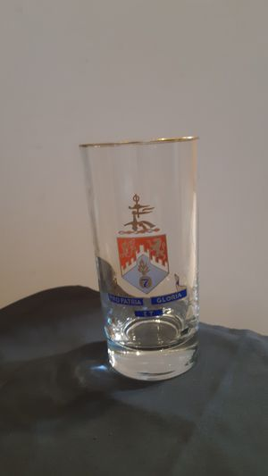Collectible glass with gold trim-107th Infantry Regiment-New York Army National Guard for Sale in Plantation, FL