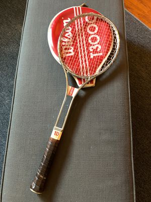 Pair Vintage 1970's WILSON T3000 Chrome Tubular Steel Tennis Racket w Original Cover. for Sale in Costa Mesa, CA
