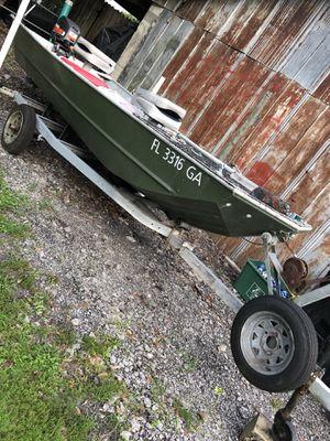 14' Jon Boat with 20hp Mariner. WATER READY! for Sale in Alafaya, FL