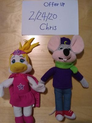 Chuck-E-Cheese toy plushies for Sale in Sacramento, CA